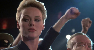 The film also features Brigitte Nielsen, uniting all of Stallone's passions in 1985.