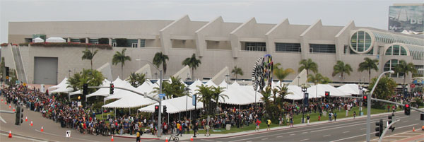 A view of Hall H's chute tent.
