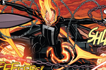 A sample of Tradd Moore's art on All New Ghost Rider