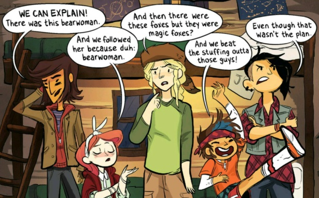 The girls of Lumberjanes.