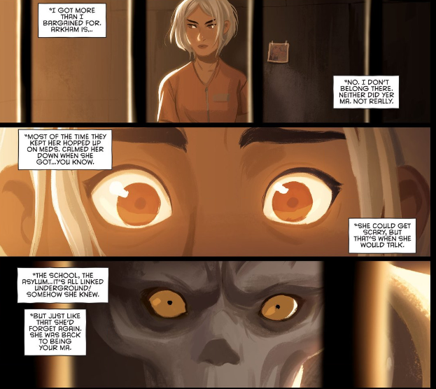 Art from Gotham Academy #6.