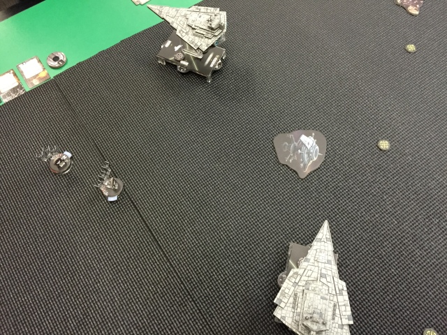 My Star Destroyer is the one running away.